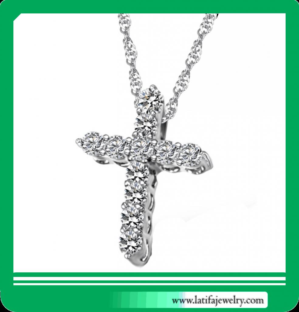kalung liontin salib salip berlian murah jogja depok indonesia jakarta buat perhiasan