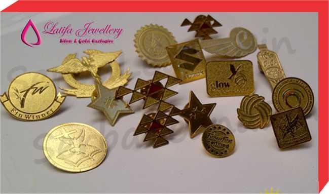 pembuatan pin emas perak asli 24 k murah logo perusahaan cincin