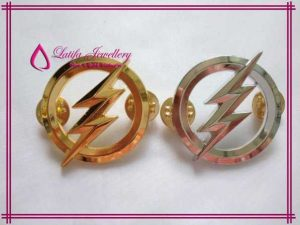 pembuatan pin emas pln perak asli bikin buat murah palladium platina logo perusahaan cincin