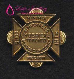 pin emas asli kadar 24k pembuatan logo perusahaan emas perak palladium cincin logo perusahaan