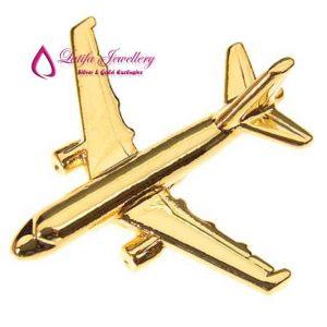 pin logo perusahhan pesawat pembuatan emas asli perak palladium platina