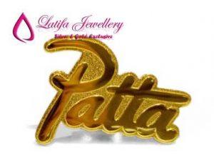 pin nama emas asli logo perusahaan name tag emas asli perak