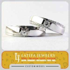 cincin kawin nikah couple pasangan tunangan platinum platina emas putih bikin jual harga murah jogja jakarta depok bandung magelang bontang solo